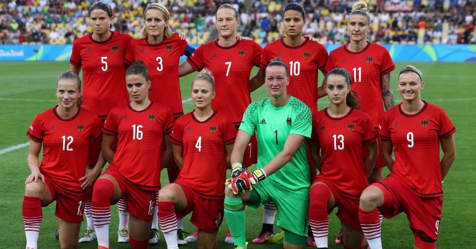 Seleção da Alemanha pronta para o início da disputa pela medalha de ouro