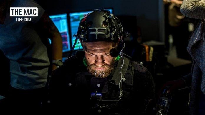 Conor McGregor, durante filmagem para o jogo
