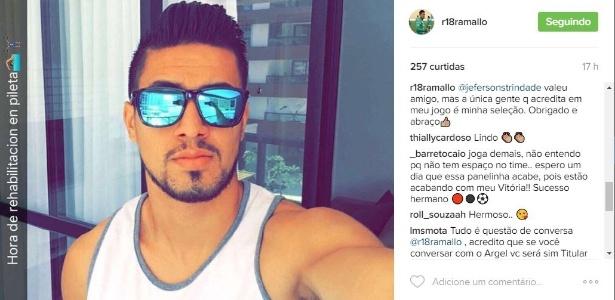 Rodrigo Ramallo ainda não foi aproveitado desde que Argel Fucks assumiu o Vitória