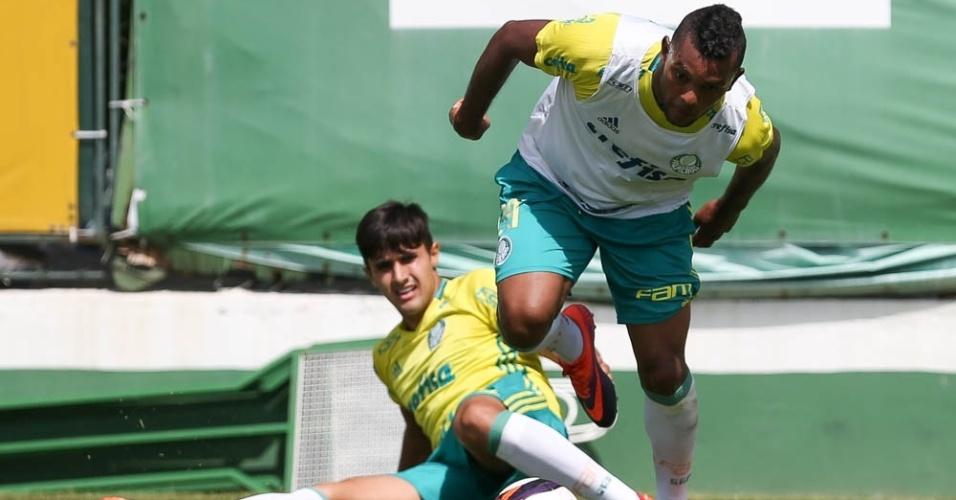 Borja Thiago Martins treino Palmeiras