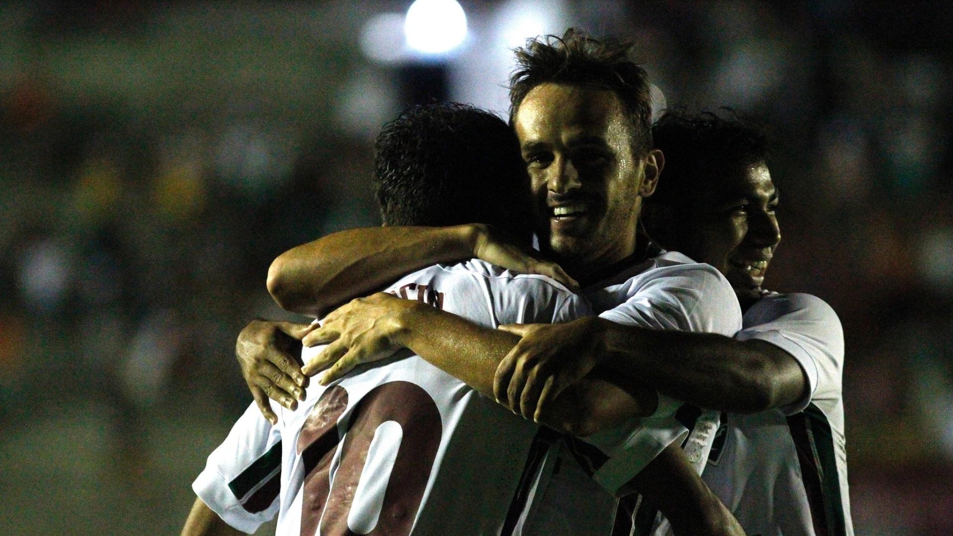 Lucas comemora gol do Fluminense contra o Globo-RN