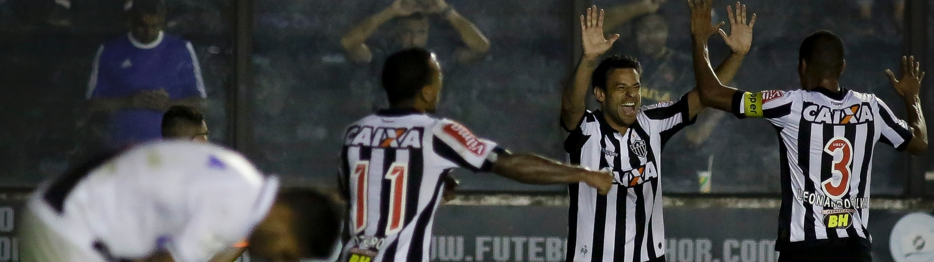 Fred faz o gol do Atlético-MG contra o Vasco