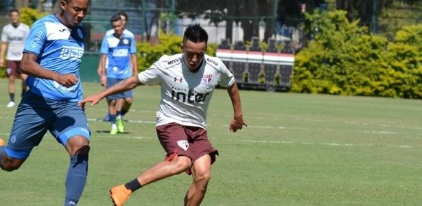 Cueva participou do jogo-treino desta segunda-feira, contra o São Bento - Érico Leonan / saopaulofc.net