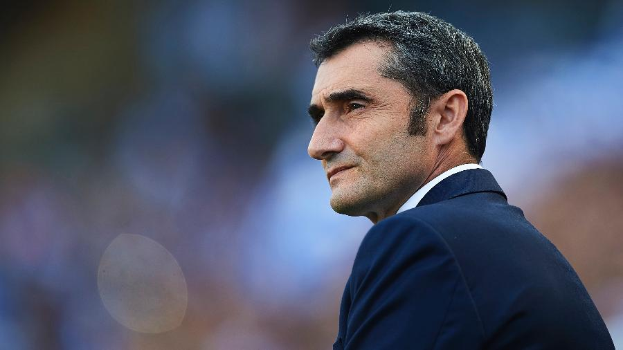 Ernesto Valverde lembrou, em coletiva, fatos recentes de destaque no futebol feminino espanhol - Aitor Alcalde/Getty Images
