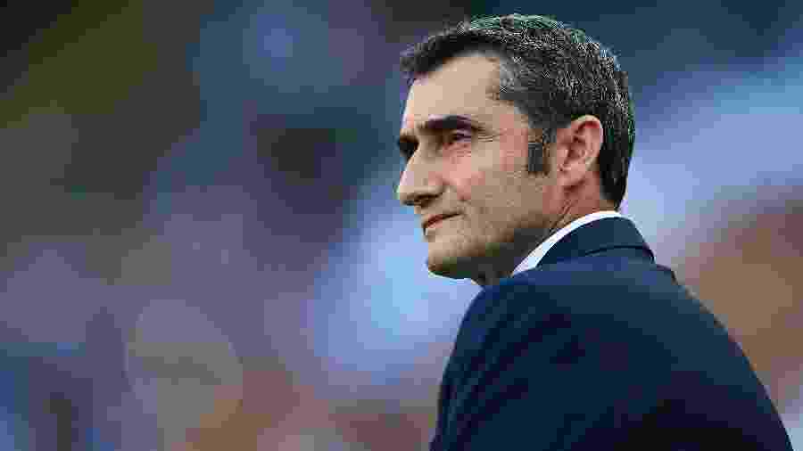 Ernesto Valverde, técnico do Barcelona - Aitor Alcalde/Getty Images