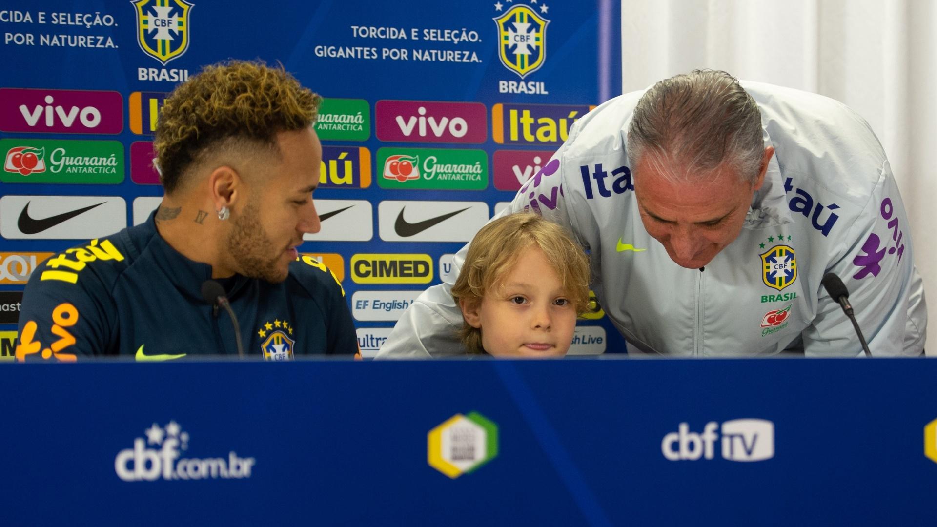 Neymar Tite Davi Lucca seleção brasileira