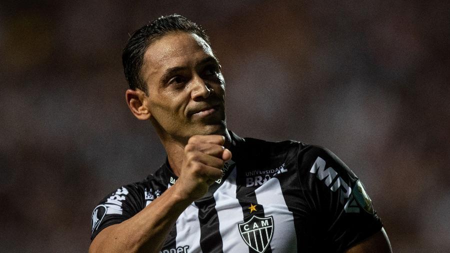 Ricardo Oliveira, durante partida entre Atlético-MG e Danubio - Pedro Vale/AGIF