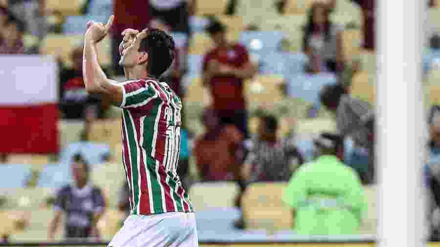 Ganso comemora seu gol para o Fluminense em jogo contra Ypiranga  - LUCAS MERÇON / FLUMINENSE F.C.
