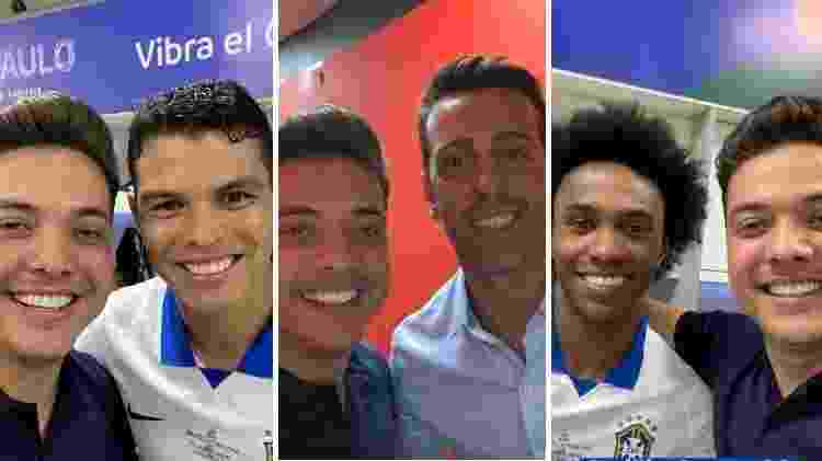 Safadão foi ao vestiário da seleção brasileira e tietou jogadores como Thiago Silva, Willian e o coordenador Edu - Reprodução/Instagram