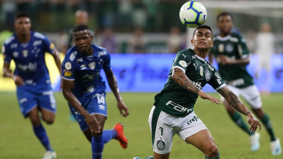 Dudu recebeu o terceiro cartão amarelo contra o Cruzeiro e desfalcará o Palmeiras contra o Fortaleza - Cesar Greco/Ag. Palmeiras/Divulgação
