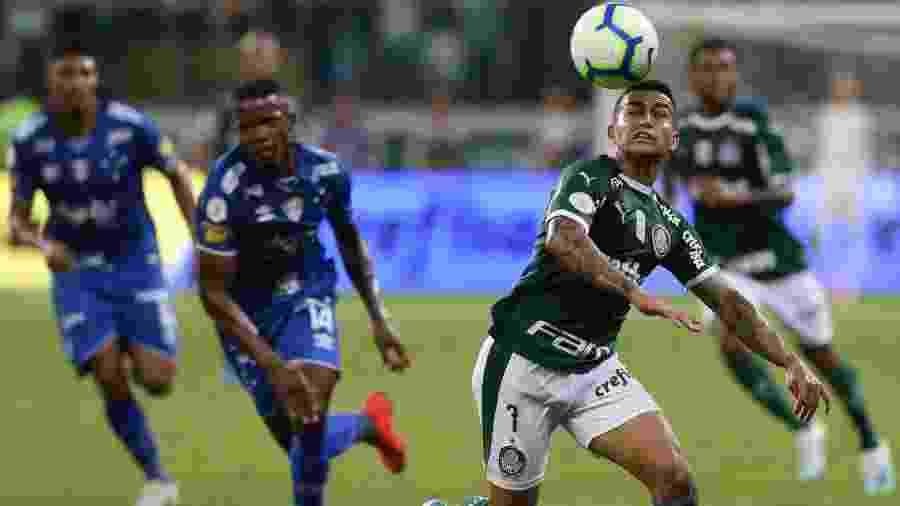 Dudu em ação em jogo do Palmeiras contra o Cruzeiro, no Allianz Parque: arena é trunfo palmeirense - Cesar Greco/Ag. Palmeiras/Divulgação