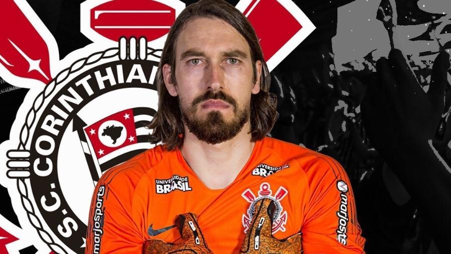 """Corinthians simula """"fusão"""" entre Cássio e Walter: """"Walssio"""" foi uma brincadeira das redes sociais - Reprodução/Twitter"""