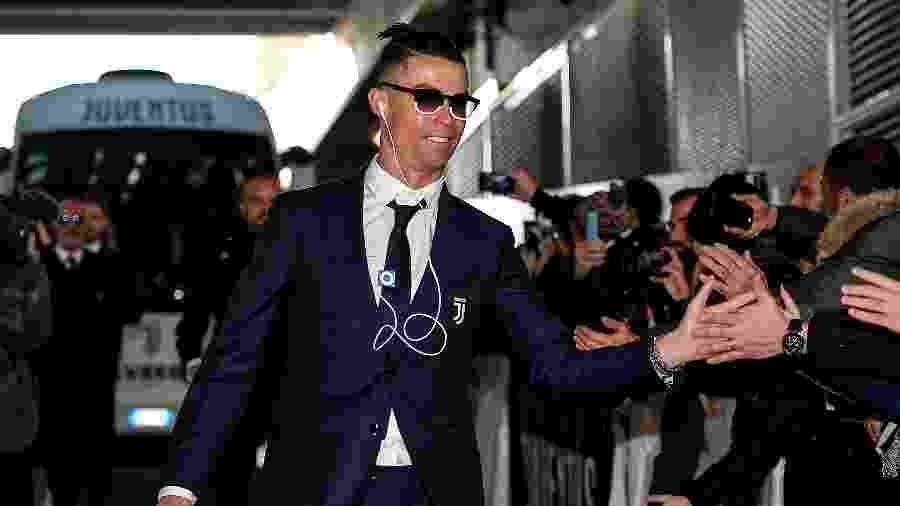 Cristiano Ronaldo escuta música em um iPod Shuffle antes de jogo da Juventus - Daniele Badolato - Juventus FC/Juventus FC via Getty Images