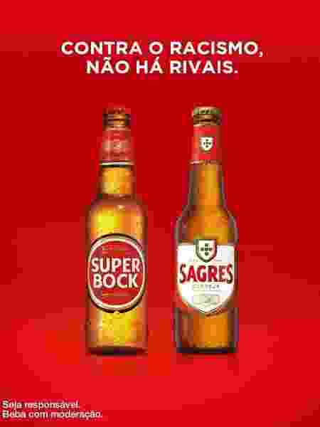 Campanha das cervejas Sagres e Super Bock contra o racismo - Reprodução / Facebook