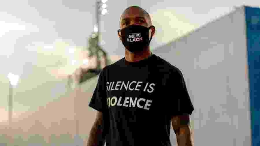 """Everton Luiz, volante do Real Salt Lake, foi vítima de injúria racista no último fim de semana: """"não foi a primeira vez"""" - Divulgação"""