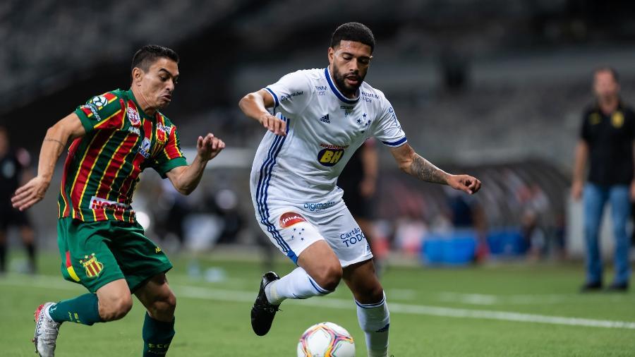 Lance do jogo entre Cruzeiro e Sampaio Corrêa, no Mineirão - Bruno Haddad/Cruzeiro