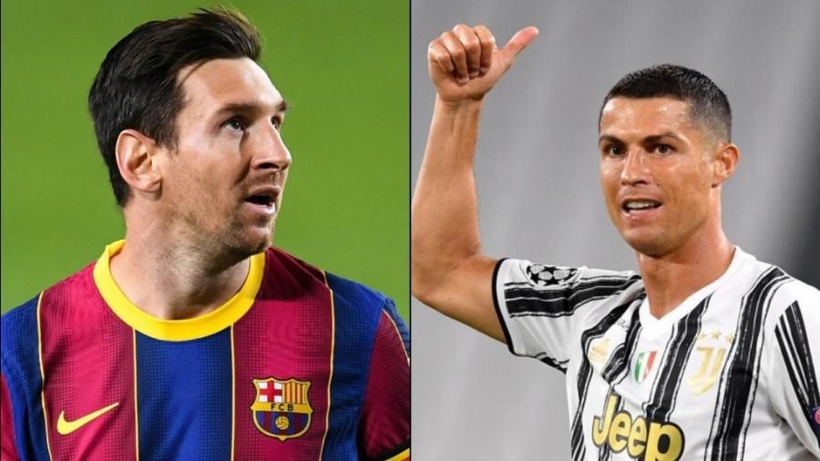 Messi e Cristiano Ronaldo são os maiores vencedores da história da Chuteira de Ouro - Montagem