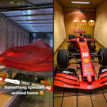 Charles Leclerc ganhou de presente a SF90, guiada pelo monegasco na temporada 2019 da Fórmula 1 - Reprodução/Instagram