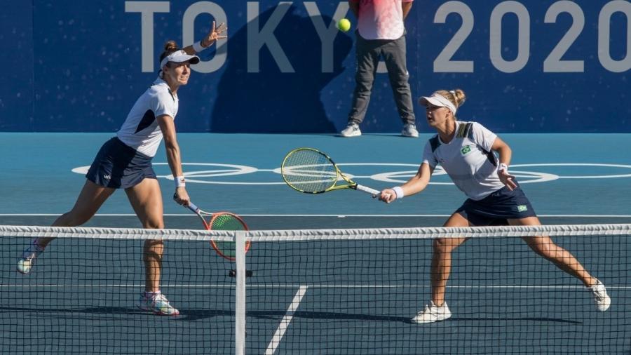 Laura Pigossi e Luisa Stefani levaram o bronze em Tóquio - Júlio César Guimarães/COB