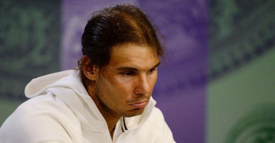 Rafael Nadal não esconde frustração após eliminação precoce em Wimbledon
