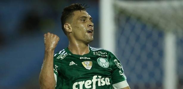 Moisés marcou um dos gols do Palmeiras na vitória sobre o Libertad