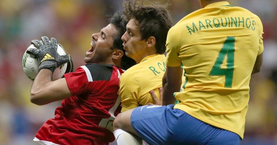 Brasil tenta reação diante da equipe do Iraque, mas não tem sucesso