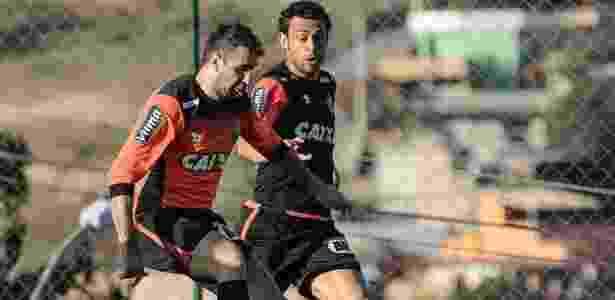 Ou um ou outro. Pratto e Fred disputam titularidade no ataque do Atlético-MG - Bruno Cantini/Atlético-MG