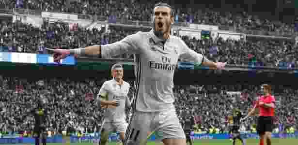 Bale comemora gol para o Real Madrid contra o Espanyol - Javier Barbancho/Reuters - Javier Barbancho/Reuters