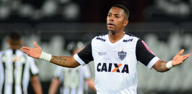 Robinho está sem clube após o fim de seu contrato com o Atlético-MG