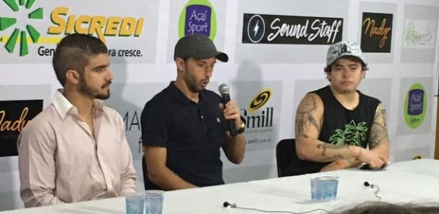 Nenê concede entrevista entre o ator Caio Castro e o humorista Whindersson Nunes