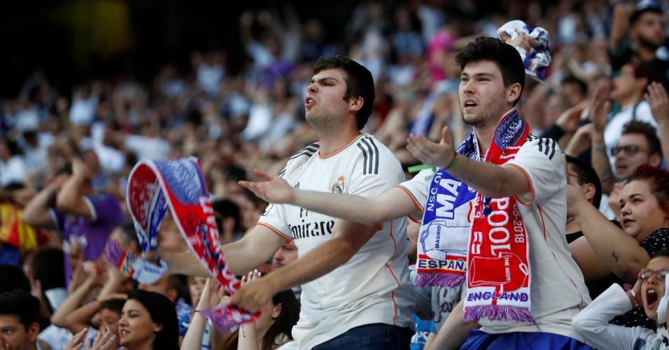 Torcida do Real Madrid também marca presença em Kiev