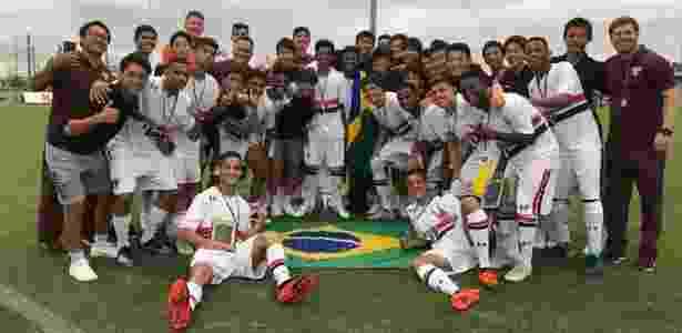 Garotos do sub-17 tiveram campanha perfeita no torneio disputado no Japão - Bruno Mizutani/saopaulofc.net - Bruno Mizutani/saopaulofc.net