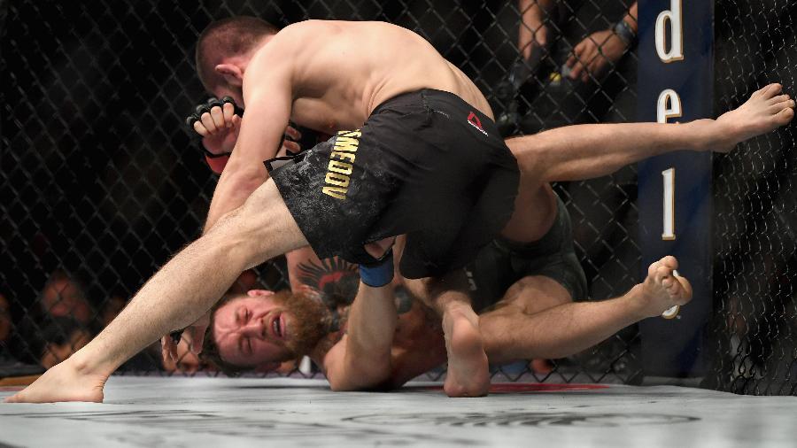 Khabib enfrenta McGregor no UFC 229, em Las Vegas - Harry How/Getty Images