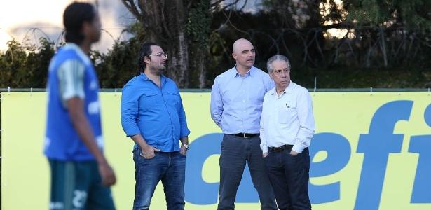 Jesse Ribeiro (d) deixa base de apoio de Maurício Galiotte no Palmeiras - Cesar Greco/Ag. Palmeiras/Divulgação