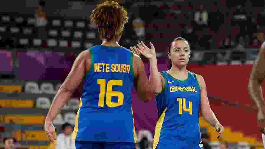 No basquete 3x3, Lu Ariescha treina mais em casa, enquano a pivô Nete trabalha em escola de inglês - Alexandre Loureiro/COB