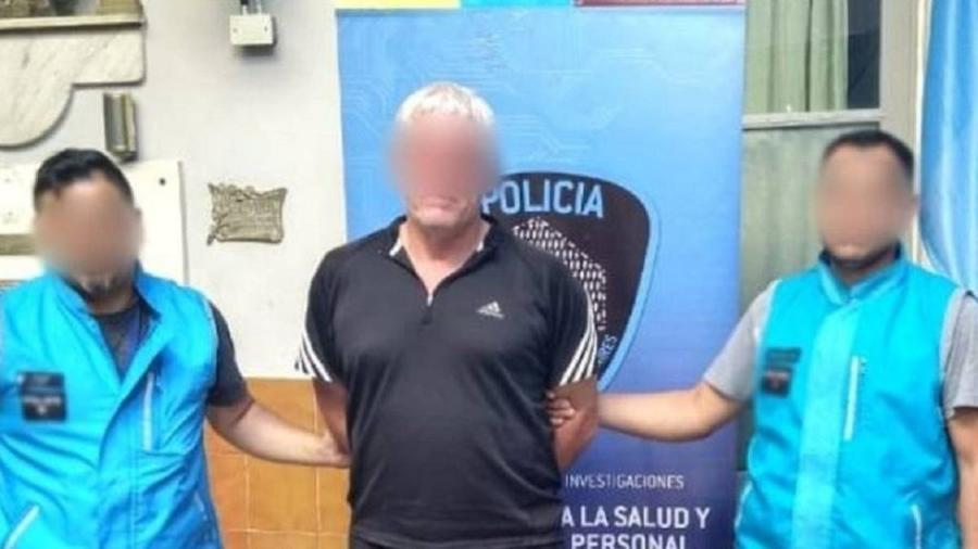 O árbitro foi preso durante uma partida na Argentina - Reprodução