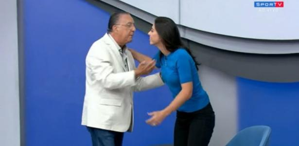 Galvão abre 'Bem, Amigos' com desculpas a Nadja Mauad: