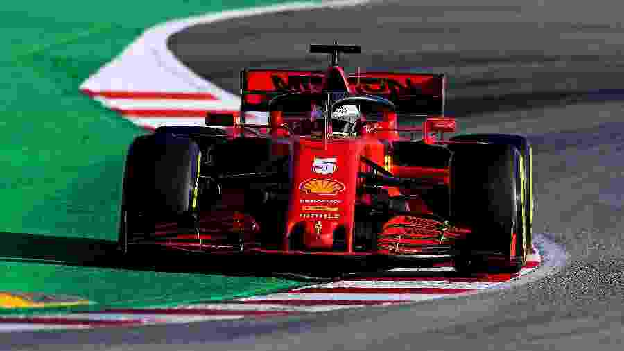 Sebastian Vettel, da Ferrari, durante teste coletivo no Circuito da Catalunha, na Espanha - Ferrari