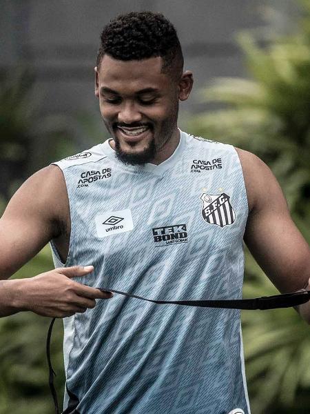 Sabino em treino do Santos no CT Rei Pelé - Ivan Storti