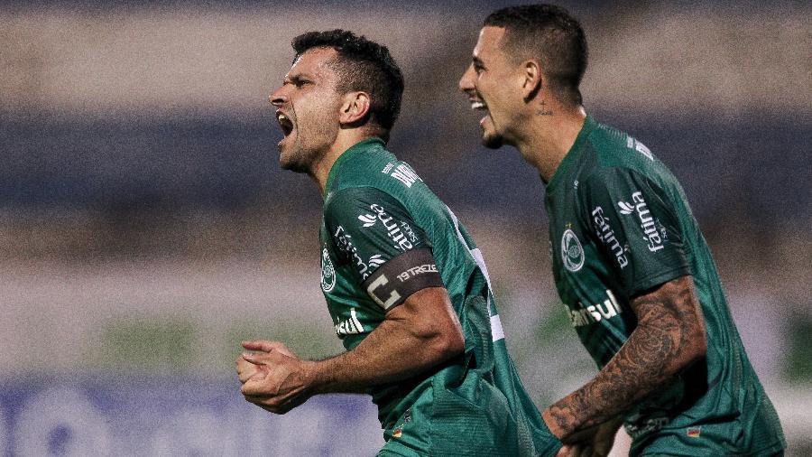 Eltinho comemora gol do Juventude contra o Grêmio, pelo Campeonato Gaúcho: clube fecha com Globo até 2024 por Brasileirão - Fernando Alves/ECJuventude