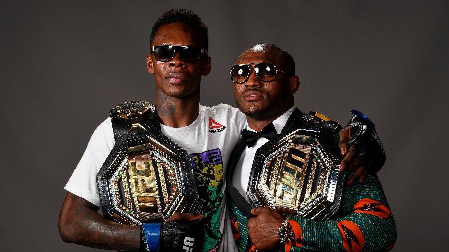 Israel Adesanya e Kamaru Usman, campeões do UFC - Mike Roach/Zuffa LLC via Getty Images