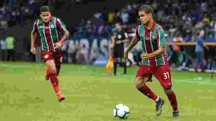 Miguel estreou pelo Fluminense em 2019 ainda sem contrato profissional - Lucas Mercon/Fluminense FC - Lucas Mercon/Fluminense FC