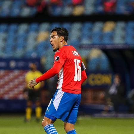 Gustavo Gómez, zagueiro do Paraguai e do Palmeiras, durante partida contra a Bolívia pela Copa América - Heber Gomes/AGIF