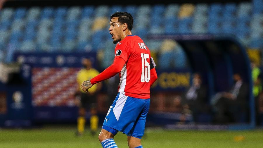 Gustavo Gómez, zagueiro do Paraguai e do Palmeiras, foi eliminado da Copa América nos pênaltis - Heber Gomes/AGIF
