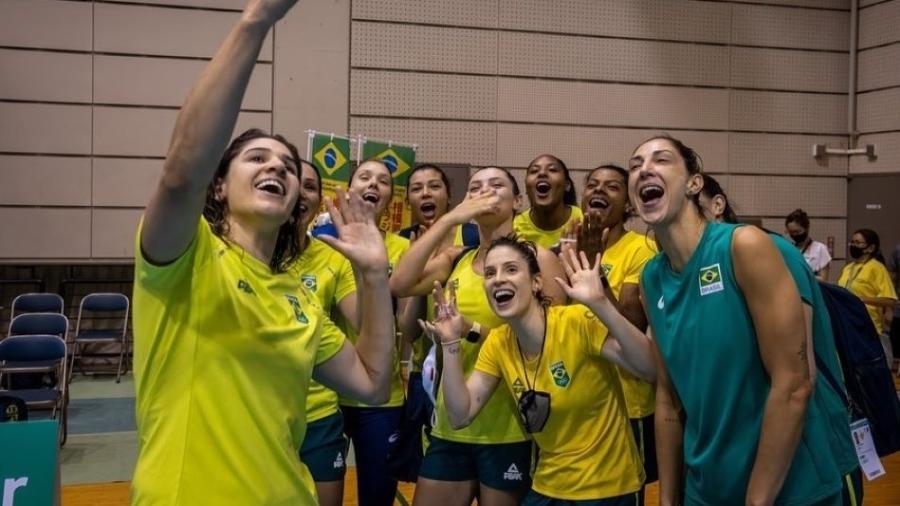 Seleção brasileira de vôlei feminino fez último teste antes de estrear na Olimpiada - Divulgação/CBV