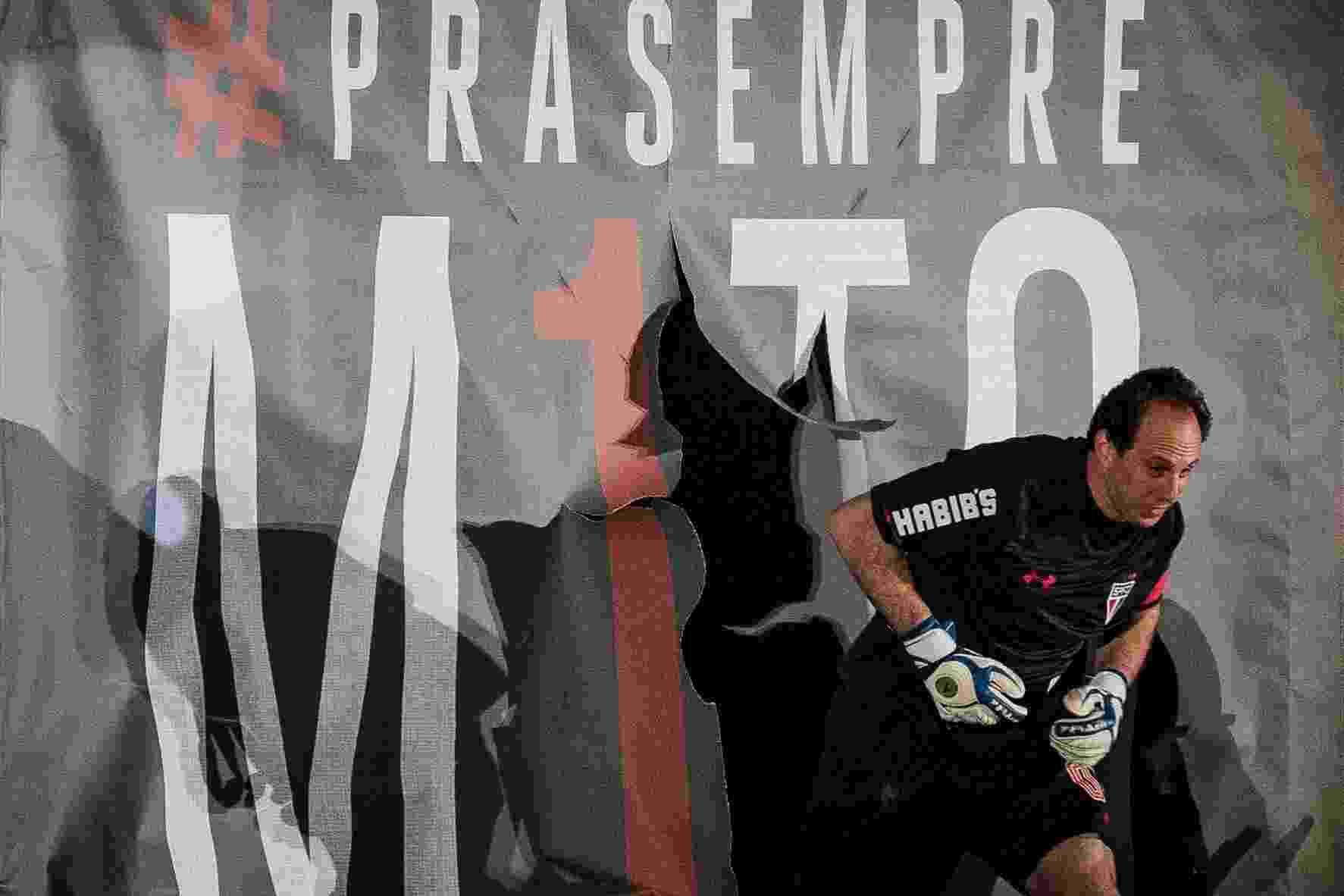 Rogério Ceni entra em campo, no seu jogo de despedida, no Morumbi, nesta sexta-feira (11) - Eduardo Anizelli / Folhapress