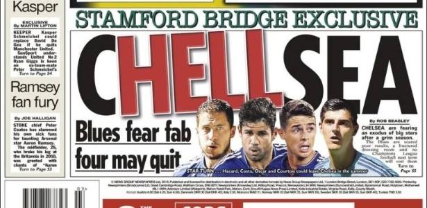 """""""The Sun"""" prevê saída de pelo menos quatro jogadores do Chelsea após temporada - Reprodução"""