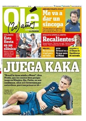 Capa de jornal argentino diz que Brasil tem medo da Argentina