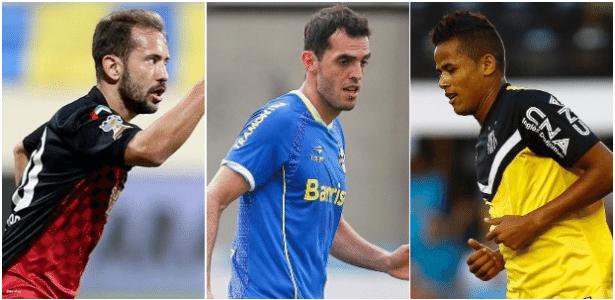 Everton Ribeiro (e), Rhodolfo (c) e Geuvânio (e) estão próximos de reforçar o Flamengo