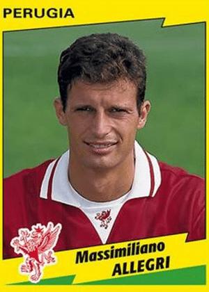 MASSIMILIANO ALLEGRI, técnico da Juventus, foi meia com passagem pelo Perugia em 1996